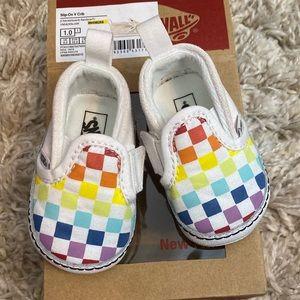 Rainbow Checker Vans